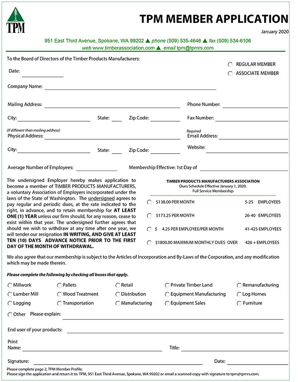 TPM Membership Application